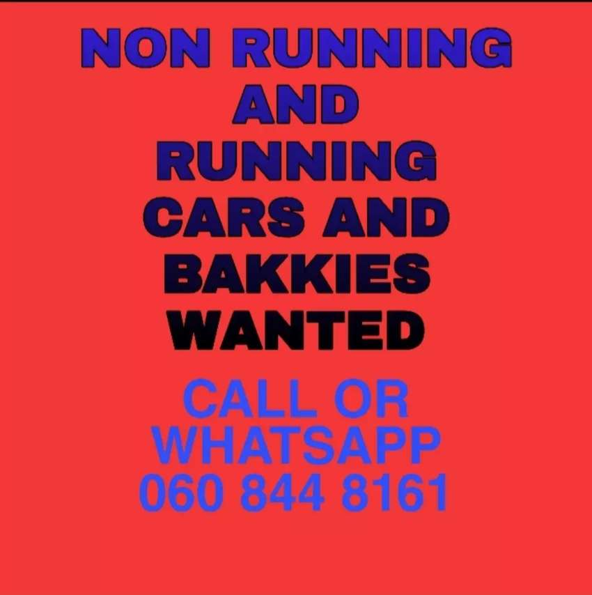 Used Non-Running Cars and Bakkies Wanted 0