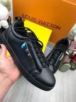 Мужские кожаные кроссовки кеды из натуральной кожи Фенди Fendi ob144