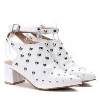 Białe sandały , słupek - 36/37