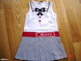 NOWA MAYORAL letnia sukieneczka 92 styl marynarski