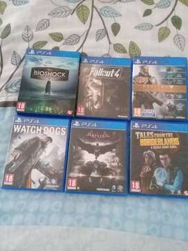 6 ps4 games but two of the games are the collection