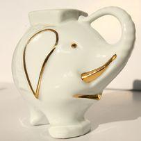 Słonik skarbonka z porcelany z Hiszpanii - na prezent, now y