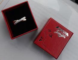 Piękny pierścionek z 37 brylantów nowy