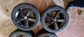 A set of 16inch polo tsi mags and tyres