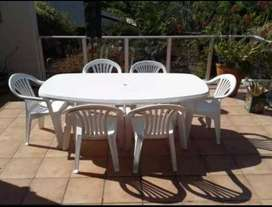 Plastic Patio table only 4 - 6 seater