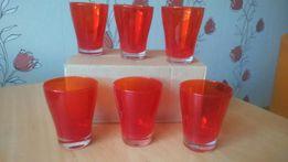 Komplet czerwonych szklaneczek - nowe