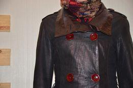 Кожаная демисезонная куртка размер XS