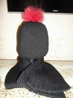 шапка и шарф 450 р
