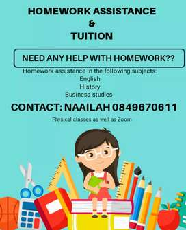 HOMEWORK ASSISTANCE AND TUITION