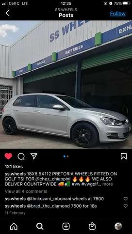"""2015 golf 7. Good condition with new 18"""" Pretoria rims and tyres"""