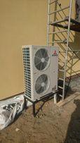 Pompa ciepła 32 kW powietrze woda MITSUBISHI z montażem