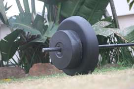 Concrete weights and bar