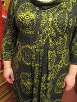 туника демисезонная длинная 52-56 2ХL хомут болотный платье КАК новая