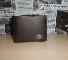 Мужской кошелек, портмоне, бумажник Lacoste, кожа, Франция 9910