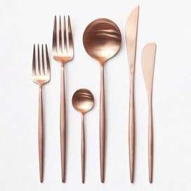 Rose Gold Cutlery - six piece set