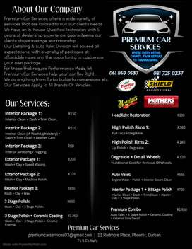 Premium Car Services - Automotive Detailing, Servicing And Repairs.