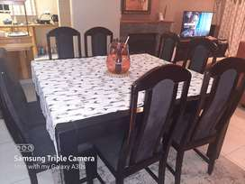 Price reduced! What a bargain! Beautiful dining room table and 8chairs