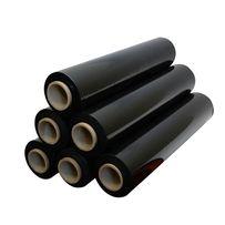 Стрейч черный 300 меторов первичный 17 микрон (6шт в упаковке)