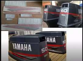 Yamaha 60 two stroke outboard motor stickers decals sets