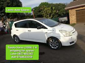 Toyota Verso 2006 stripping for spares