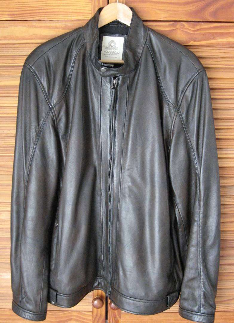 Genuine men's leather Old Khaki jacket 0