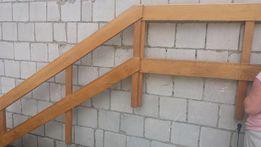 Dębowa balustrada wewnętrzna