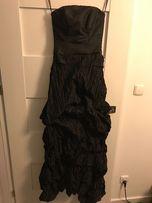 Piękna czarna suknia studniowka, wizytowa, wieczorowa + gratisy
