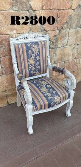 French Salon Style Painetd Armchair