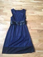 sukienka Vero Moda rozmiar 36 S granatowa z czarnymi wstawkami pasek