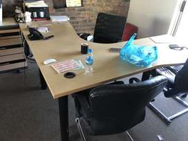 2 x Managerial Desk, Operators Chair and 2 Visitor Chairs