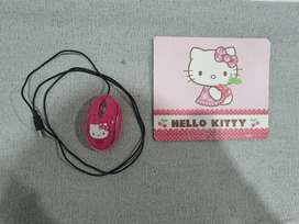 Hello Kitty Mouse & Mouse pad