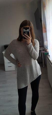 Asymentryczny szary sweter oversize H&M Białe Błota - image 2