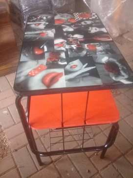 Utility Table (Red And Black)