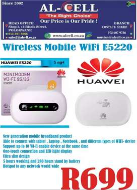 HUAWEI E5220 WIRELESS MOBILE WIFI