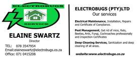 Electrical, Pest Management and Cleaning Services