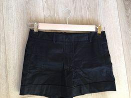 Czarne bawełniane spodenki Zara rozmiar XS