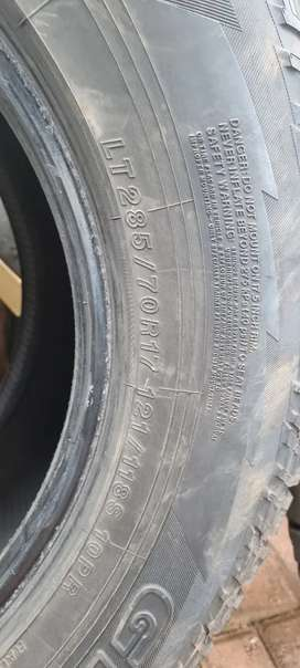 285/70/17 all terain tyres for sale Yokahama's x 2 and 1 Cooper ATx3