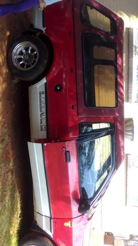 Red ford bakkie