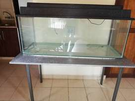 FishTank with canopy and steel table