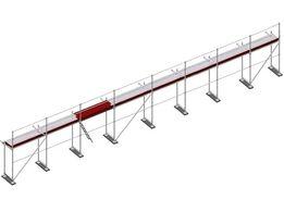 Rusztowanie elewacyjne PLETTAC NOWE 108 m2 za 4.716 zł