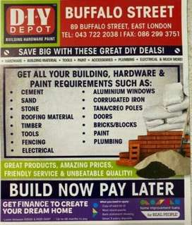 DIY FOR ALL YOUR HARDWARE REQUIREMENTS - WE DELIVER