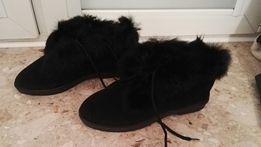 Buty z prawdziwym króliczkiem b