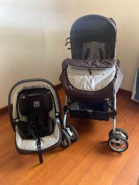 Peg Perego Stroller, Car Chair and Base
