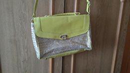 Złoto-żółta damska torebka, torba H&M torebeczka .Eko skóra