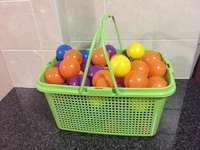 Image of Basket filled with intex balls