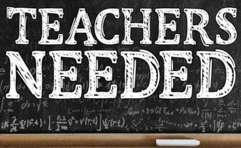 TEACHERS NEEDED (ENGLISH, SCIENCE AND CREATIVE ARTS) IN A SCHOOL 0