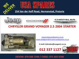 CHRYSLER GRAND VOYAGER 2.5 2004 USED REPLACEMENT STARTER FOR SALE