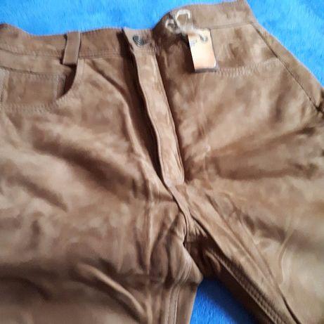 Nowe skórzane spodnie pięknie wyprawione piękny kolor rozmiar 30 Rzeszów - image 4