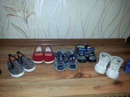 Детская обувь , макасины, красовки , слипы, босоножки 20-22размер