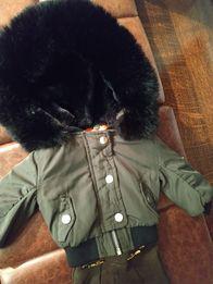 Zestaw akcesoriów ubrań dla lalki kurtka pilotka khaki River Island